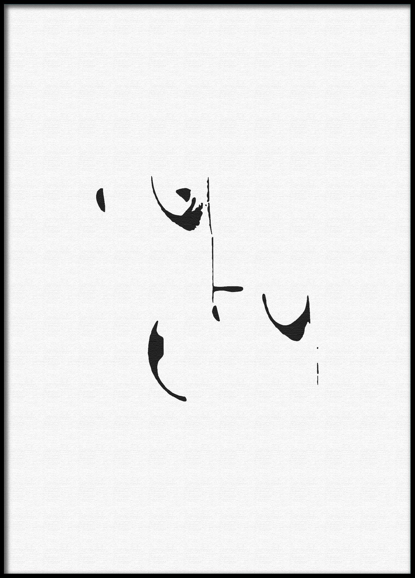 Unika affischer- minimalist affisch - Poster by design